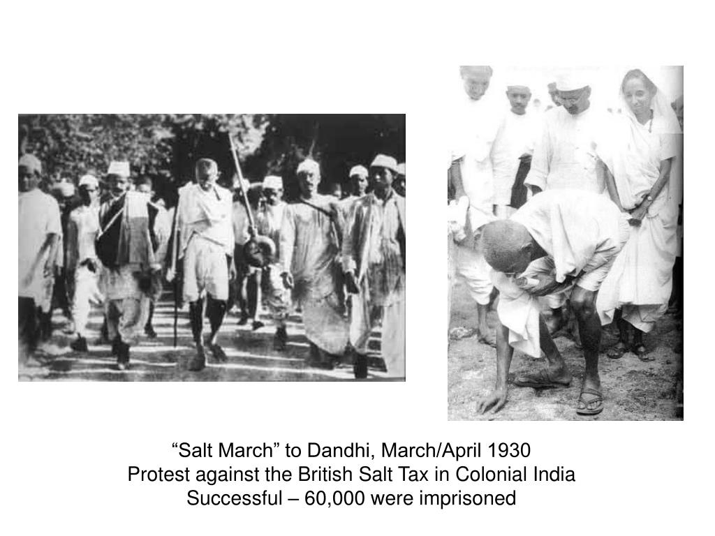 """Salt March"" to Dandhi, March/April 1930"