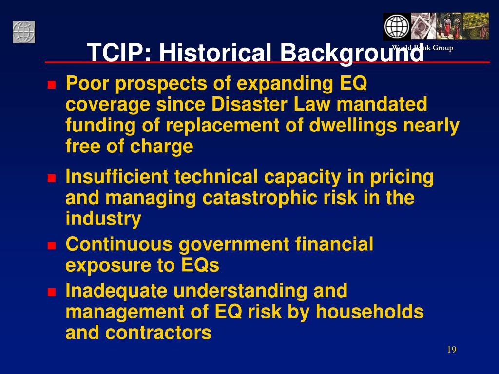 TCIP: Historical Background