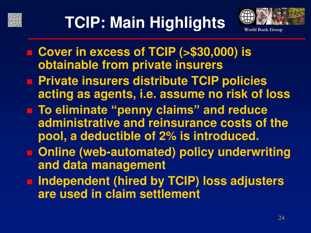 TCIP: Main Highlights