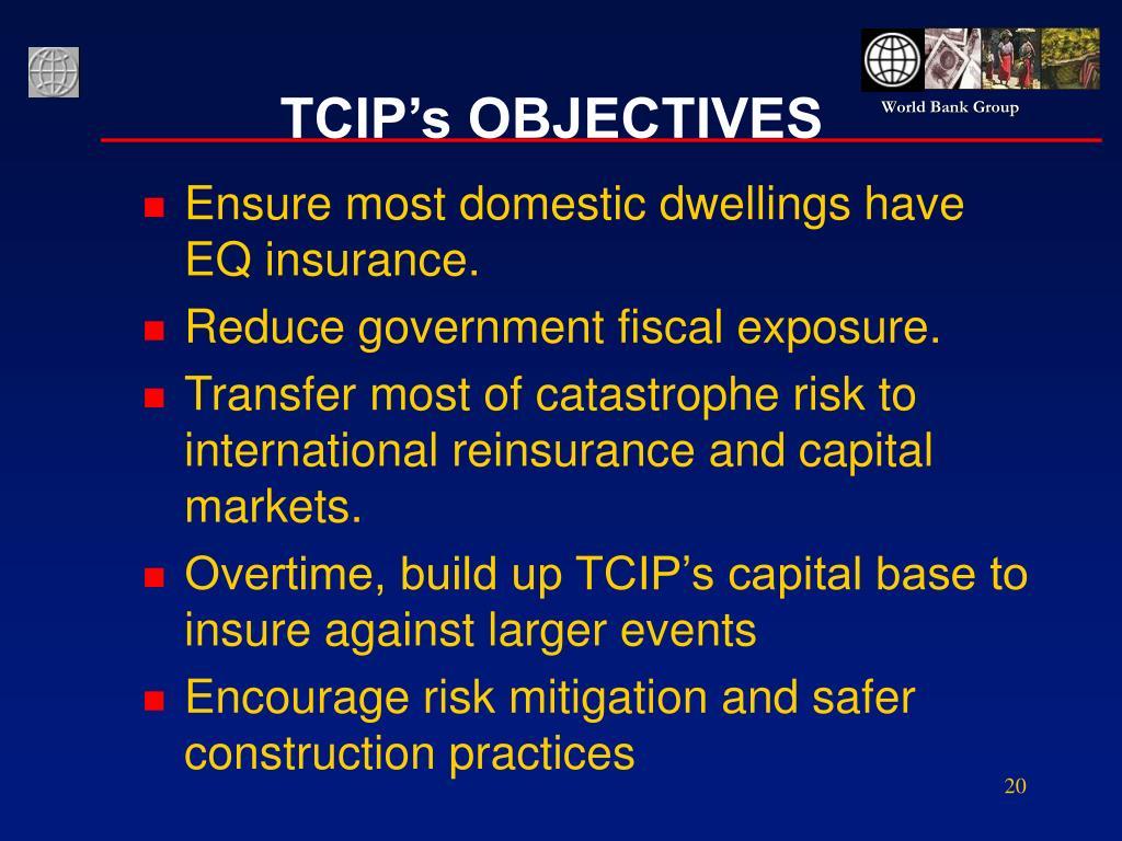 TCIP's OBJECTIVES