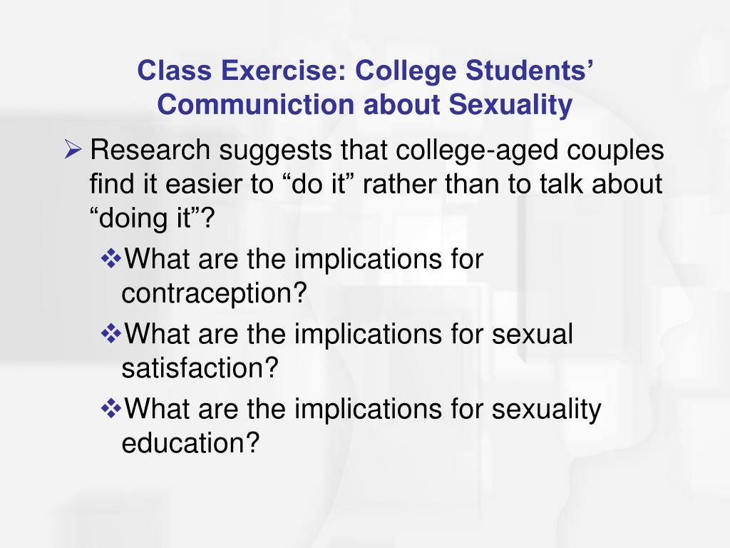Class Exercise: College Students' Communiction about Sexuality