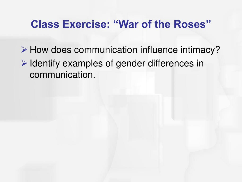 "Class Exercise: ""War of the Roses"""