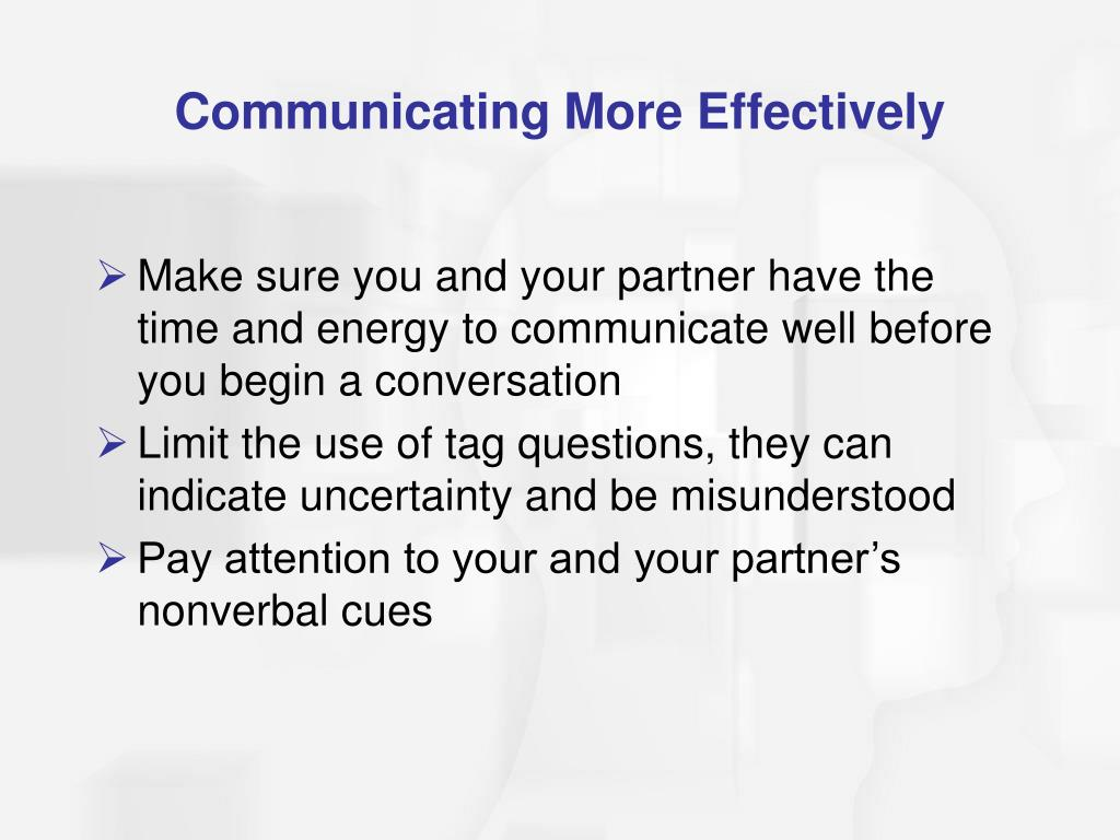 Communicating More Effectively