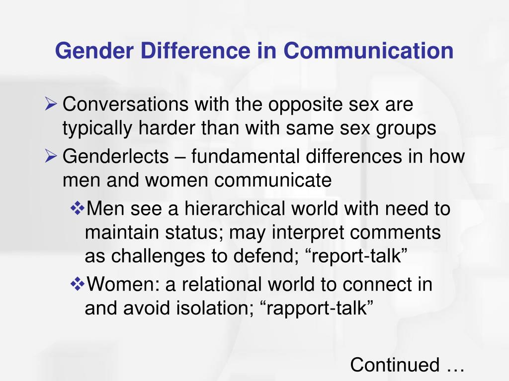Gender Difference in Communication