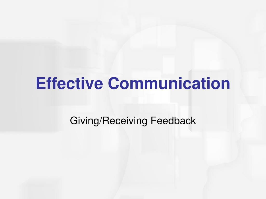 Giving/Receiving Feedback