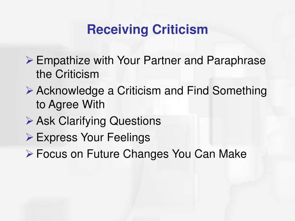 Receiving Criticism