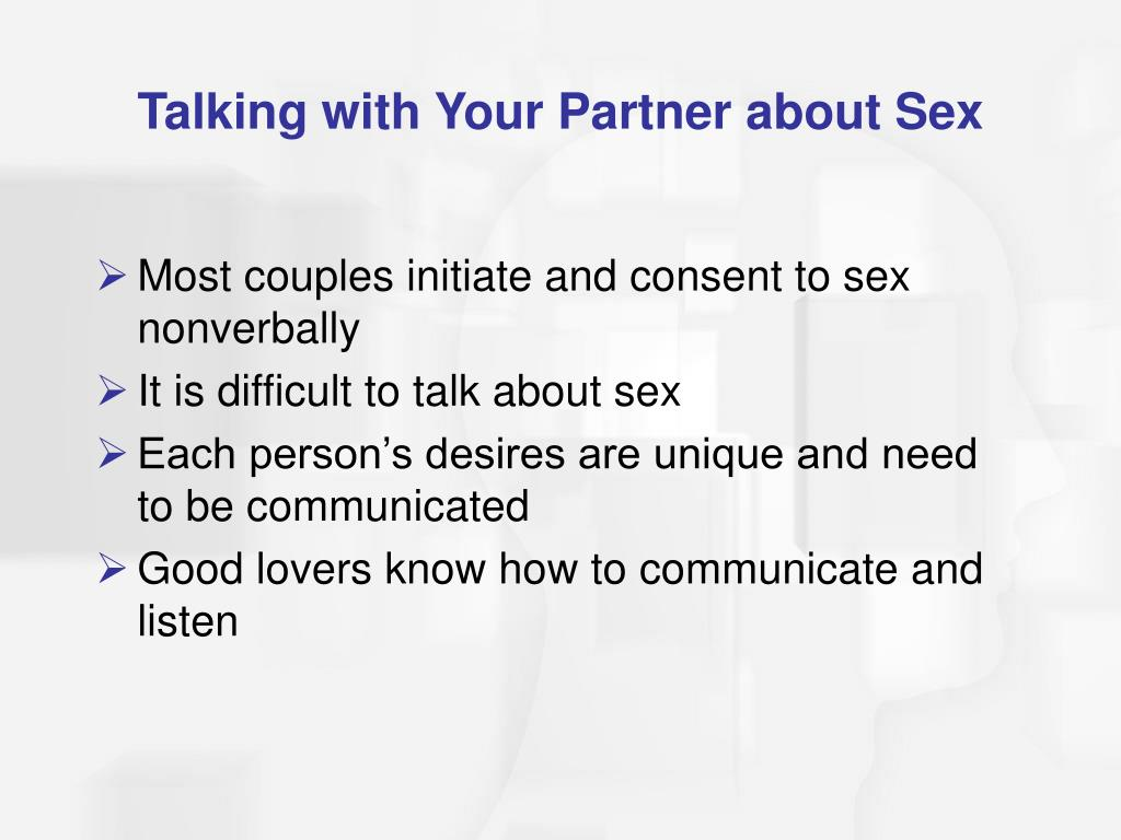 Talking with Your Partner about Sex