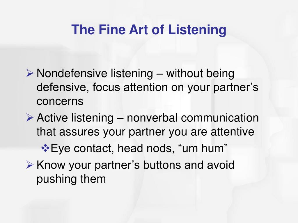 The Fine Art of Listening