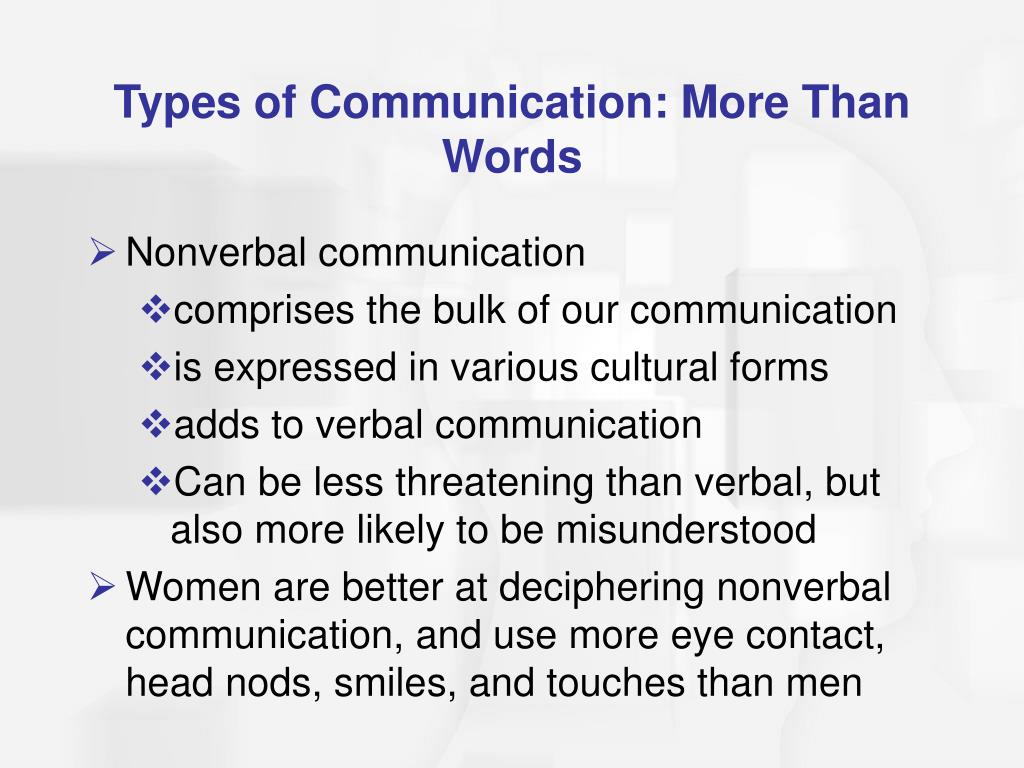 Types of Communication: More Than Words