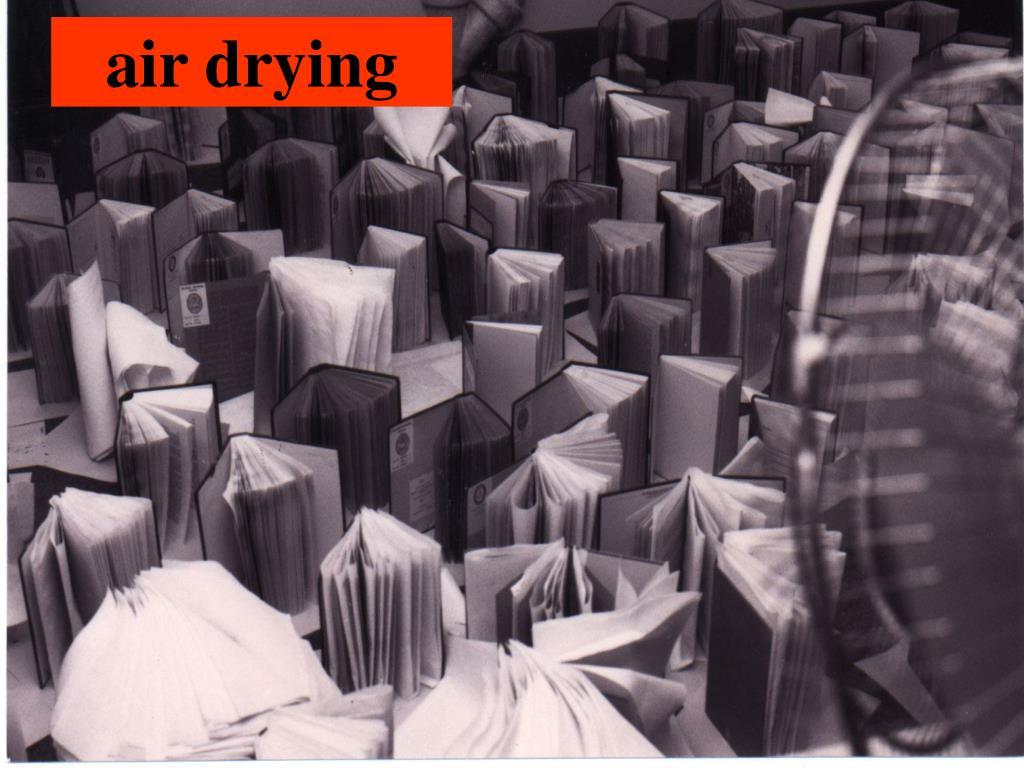 air drying