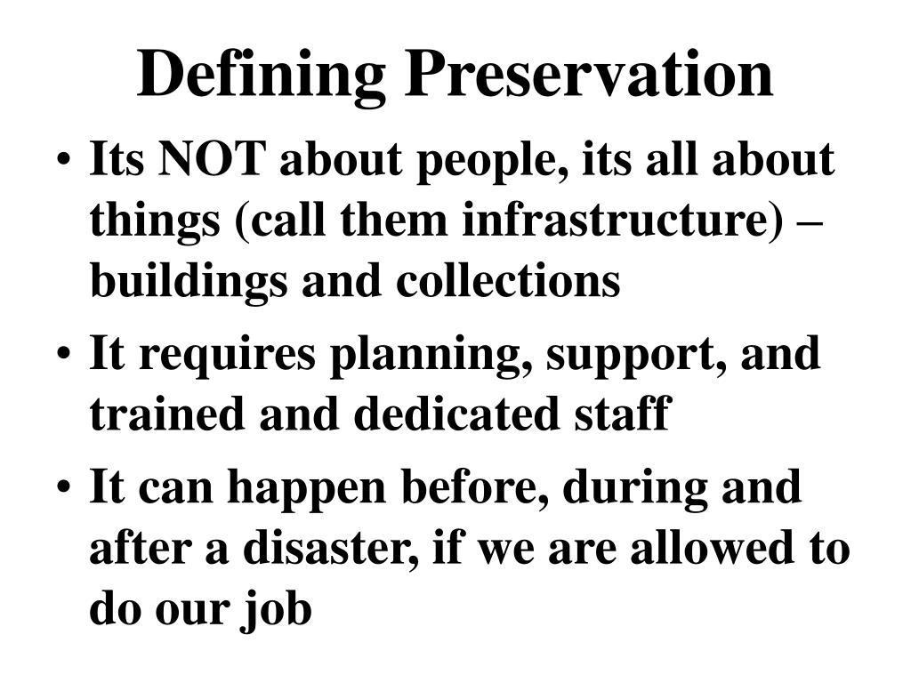 Defining Preservation