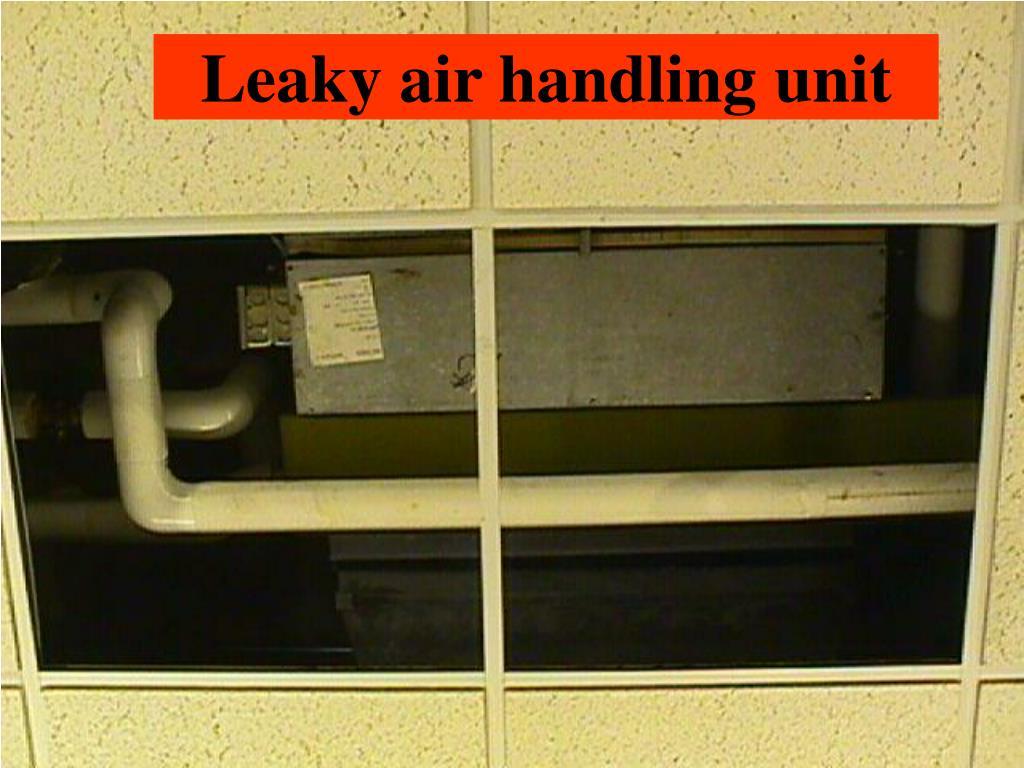 Leaky air handling unit