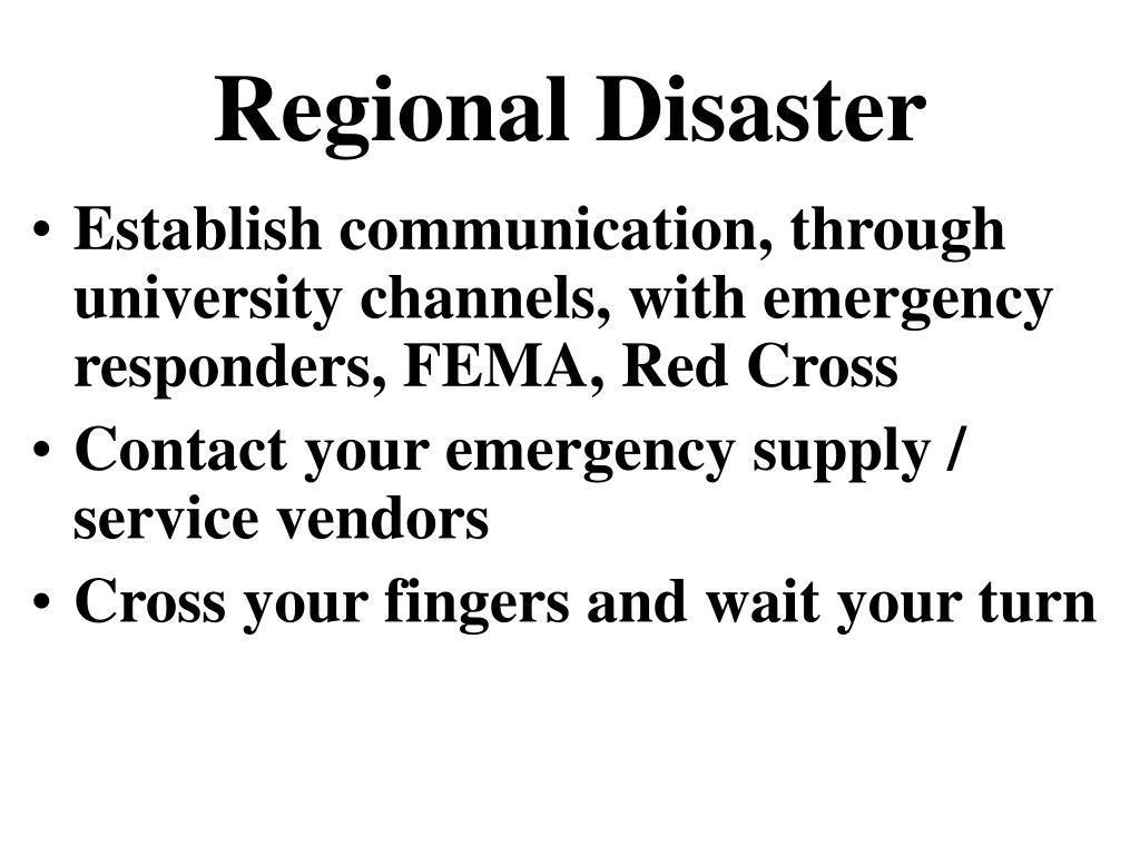 Regional Disaster
