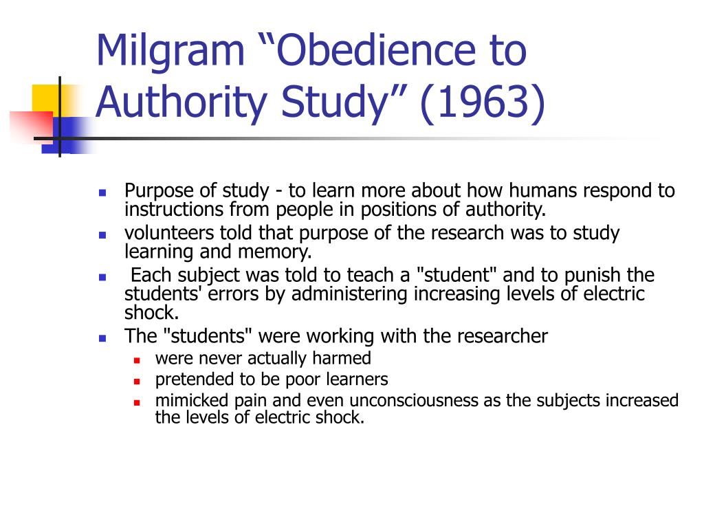 "Milgram ""Obedience to Authority Study"" (1963)"