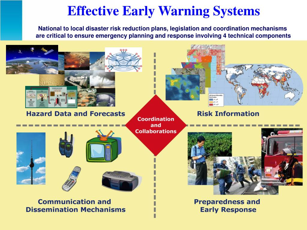 Effective Early Warning Systems