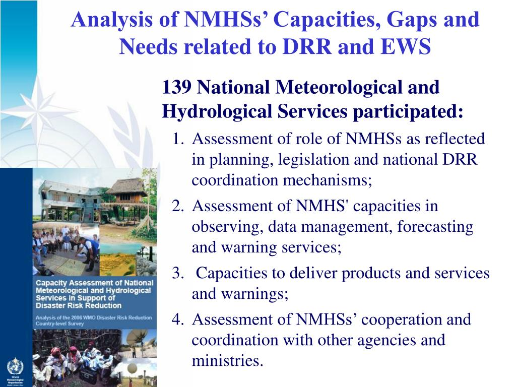 Analysis of NMHSs' Capacities, Gaps and Needs related to DRR and EWS