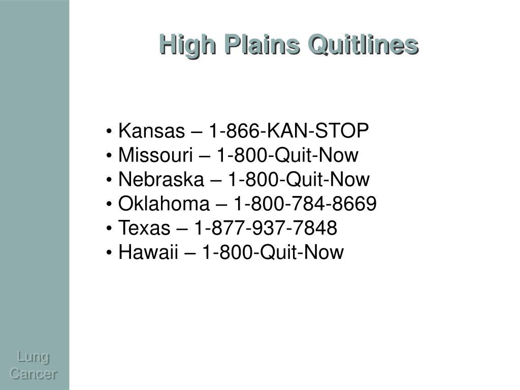 High Plains Quitlines