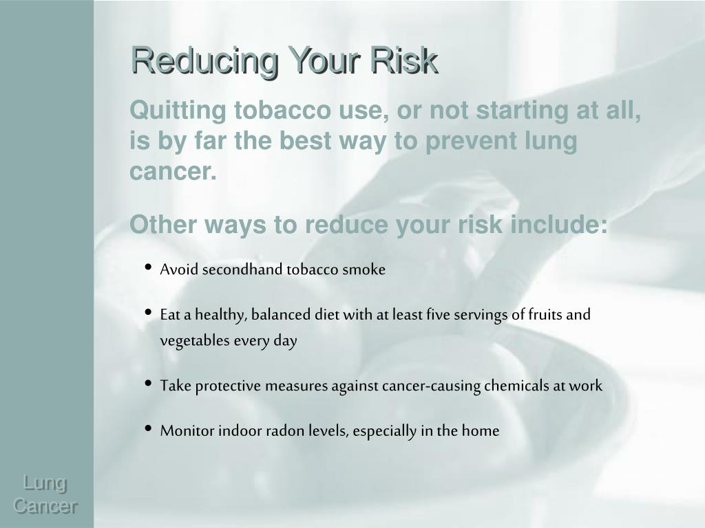 Reducing Your Risk