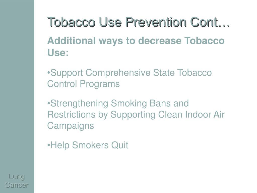 Tobacco Use Prevention Cont…
