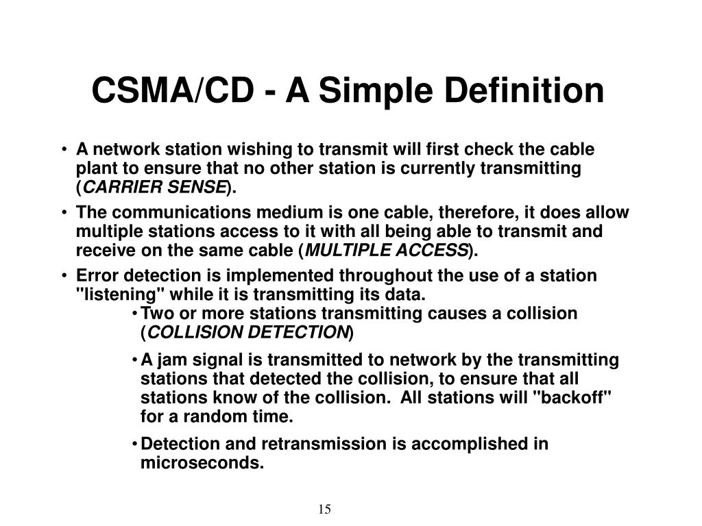 CSMA/CD - A Simple Definition