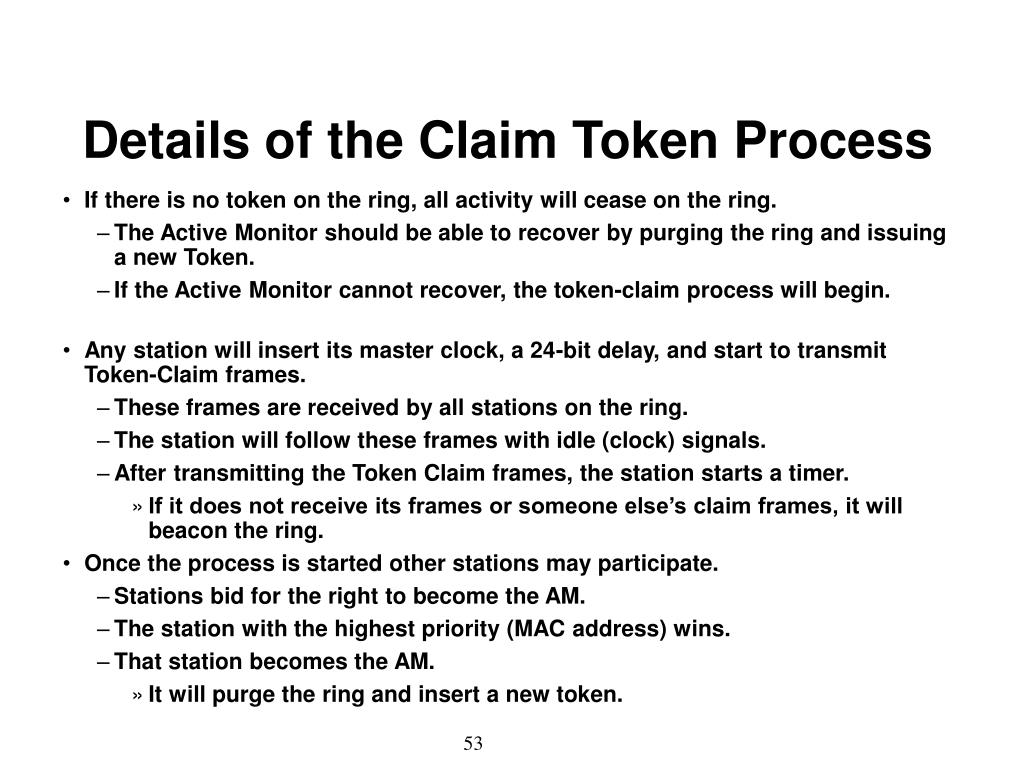 Details of the Claim Token Process