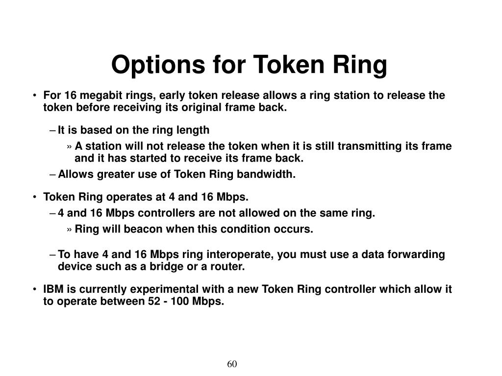 Options for Token Ring