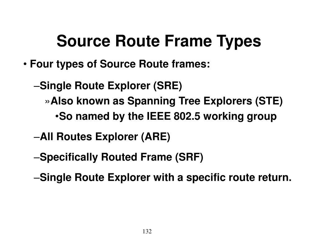 Source Route Frame Types