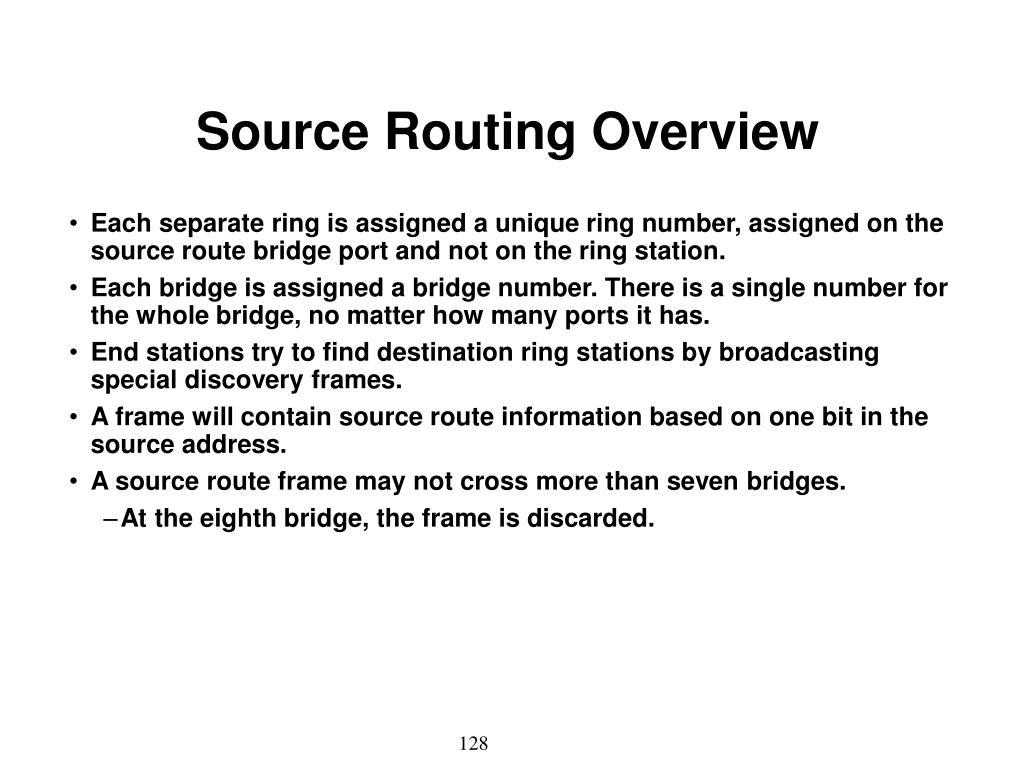 Source Routing Overview