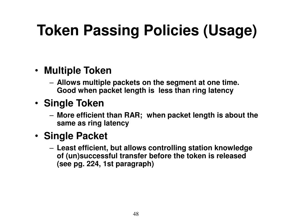 Token Passing Policies (Usage)