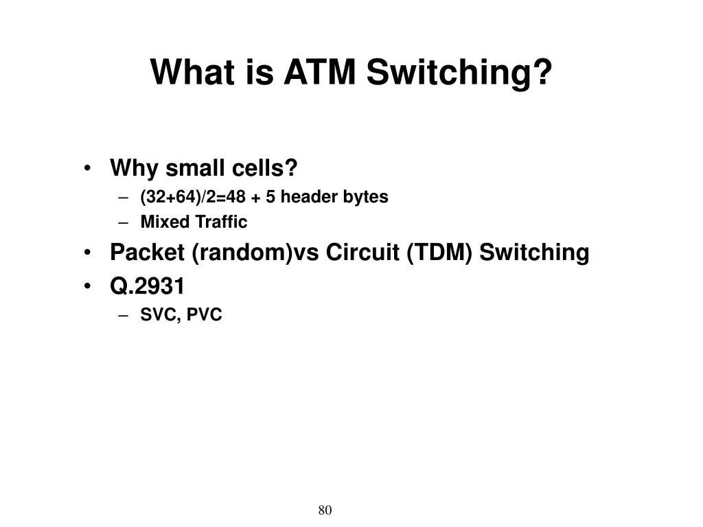 What is ATM Switching?