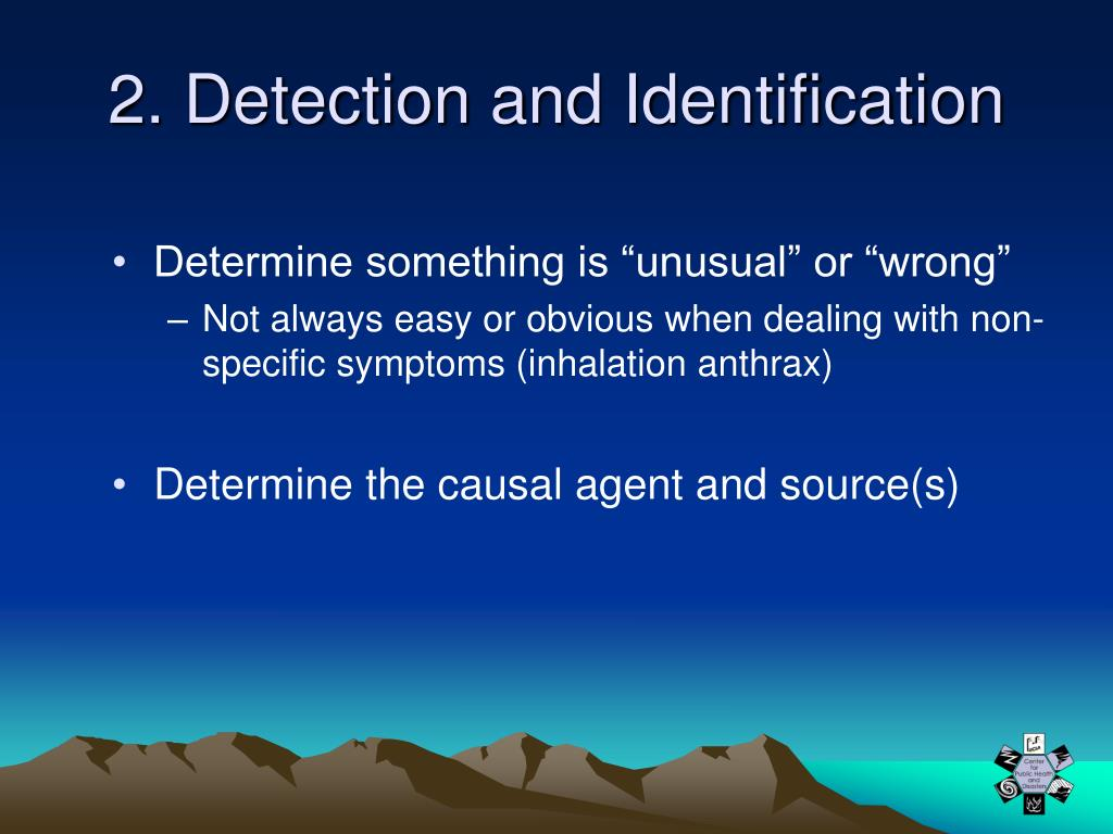 2. Detection and Identification