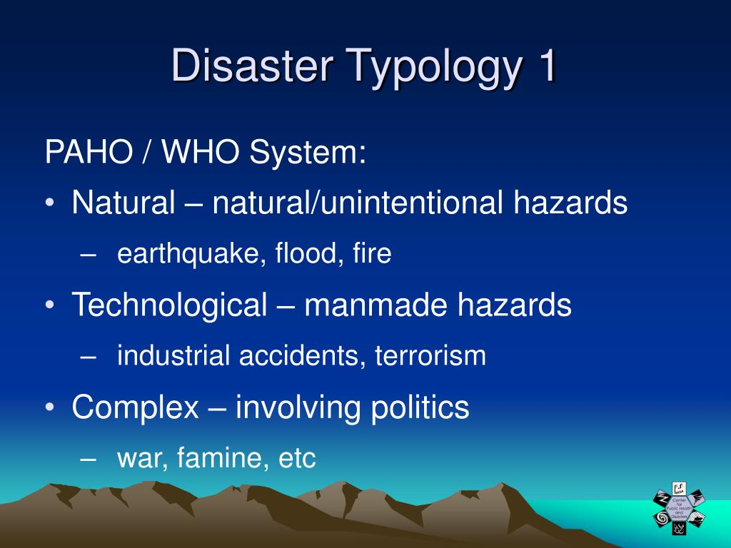 Disaster Typology 1