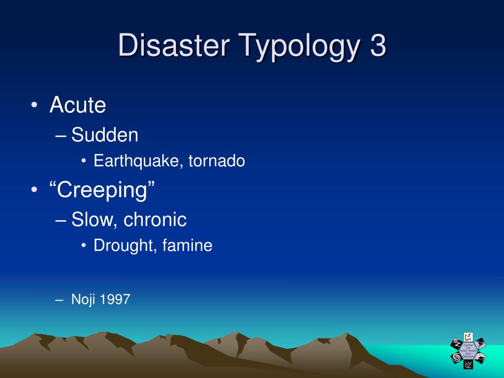 Disaster Typology 3