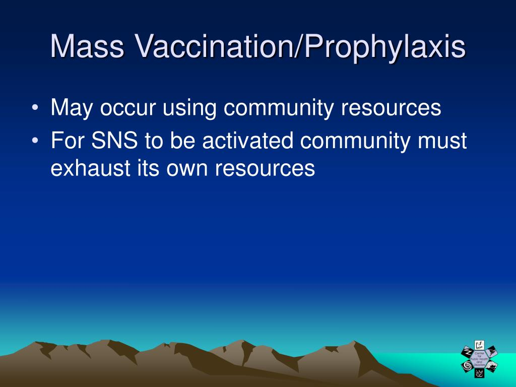 Mass Vaccination/Prophylaxis