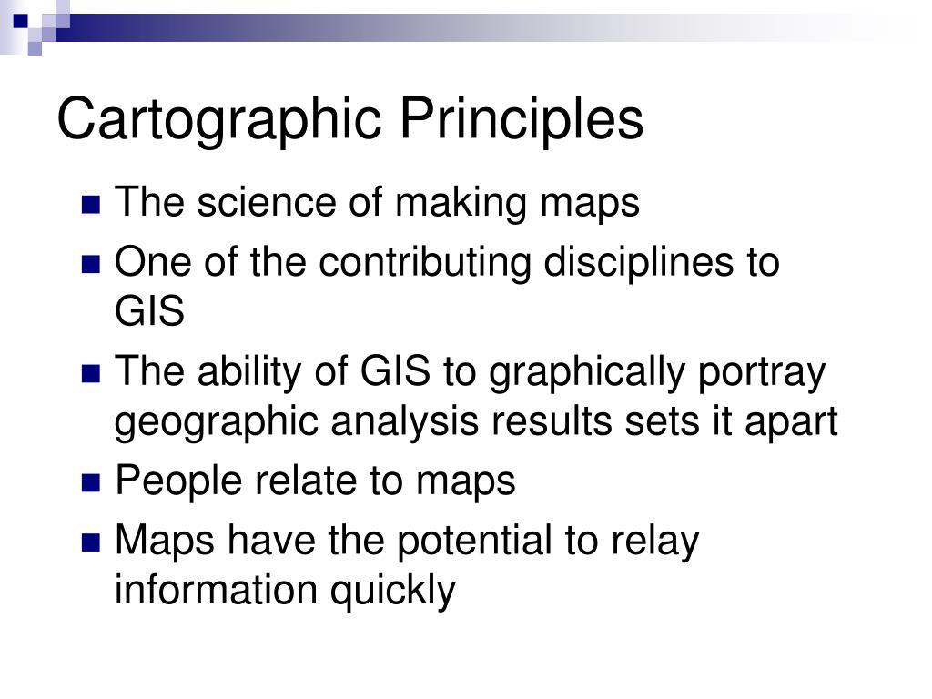 Cartographic Principles