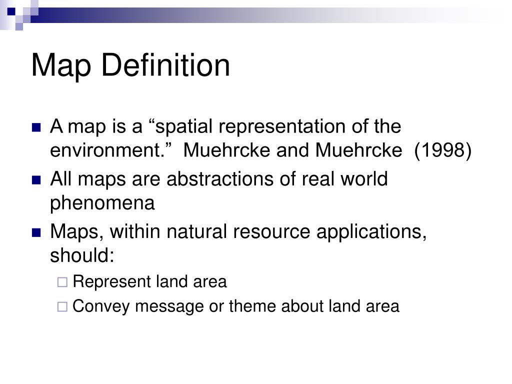 Map Definition