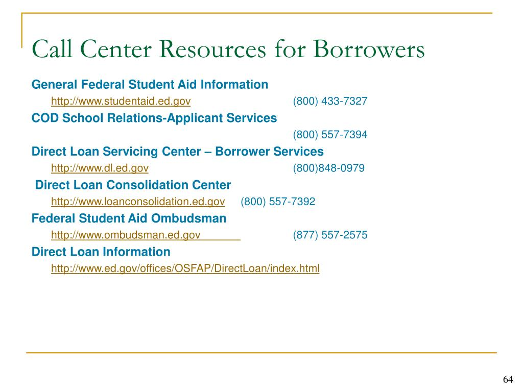 General Federal Student Aid Information
