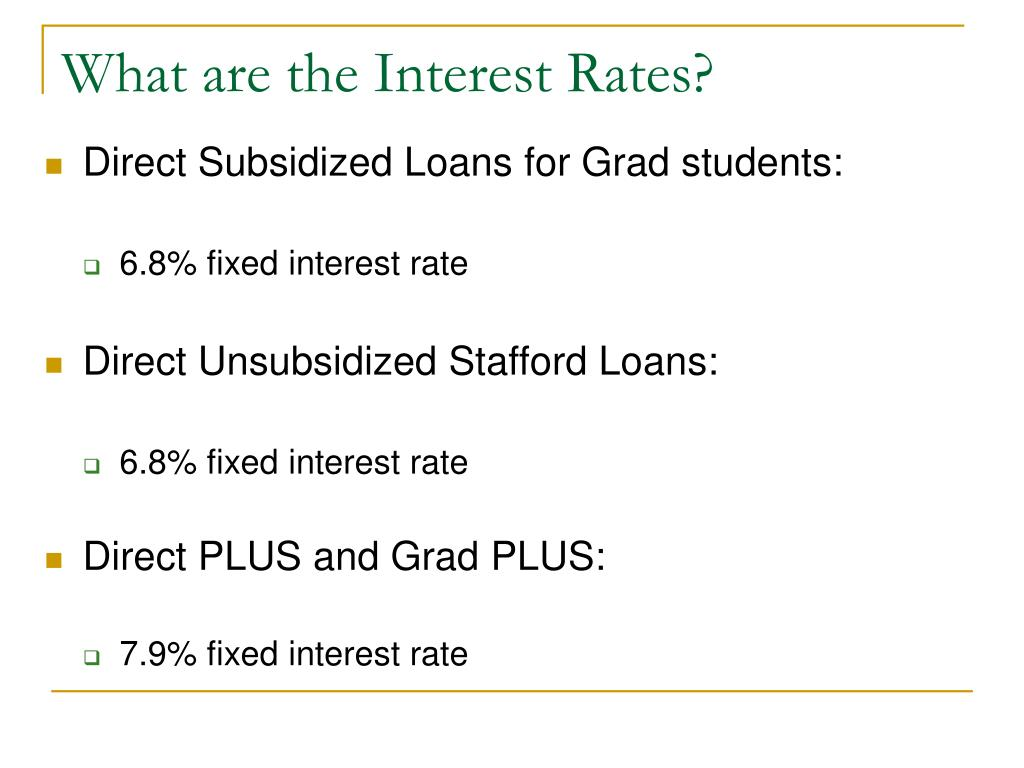 What are the Interest Rates?