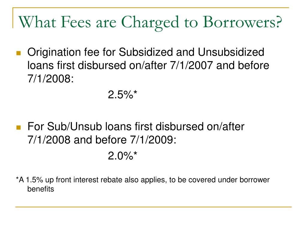 What Fees are Charged to Borrowers?