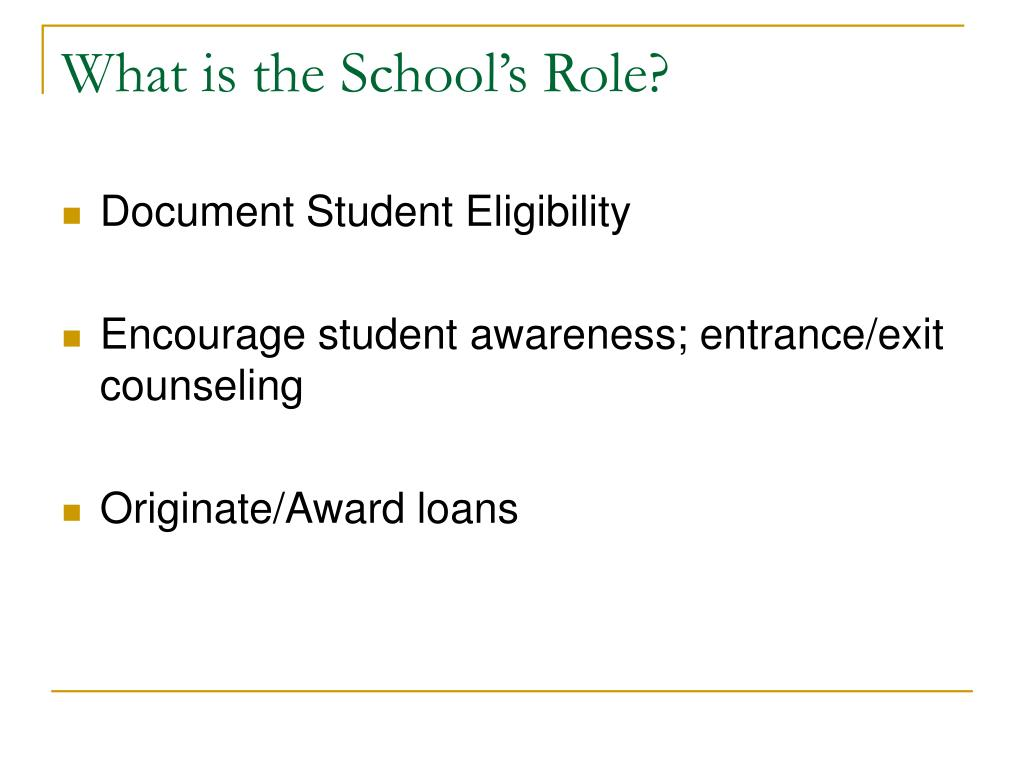 What is the School's Role?