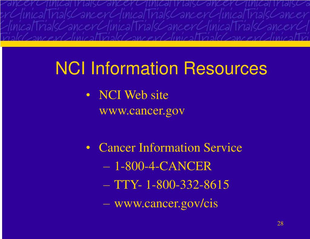 NCI Information Resources