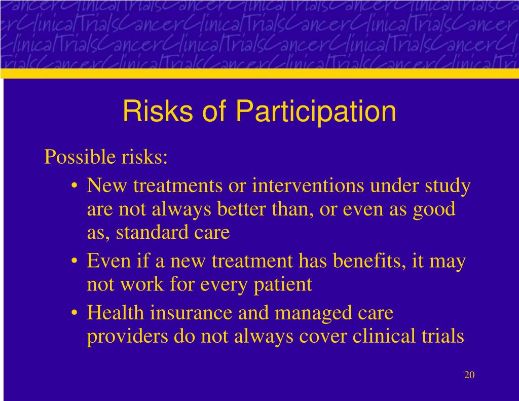 Risks of Participation