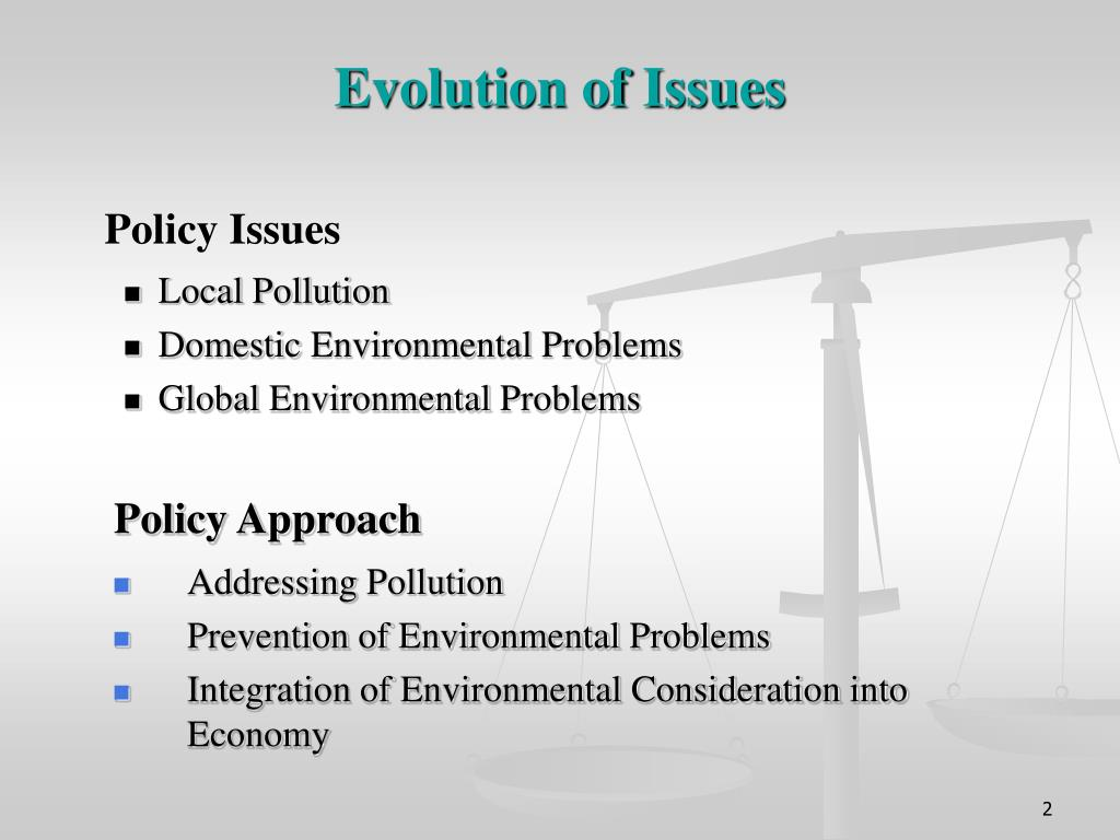Evolution of Issues