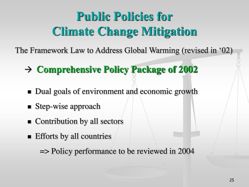 Public Policies for