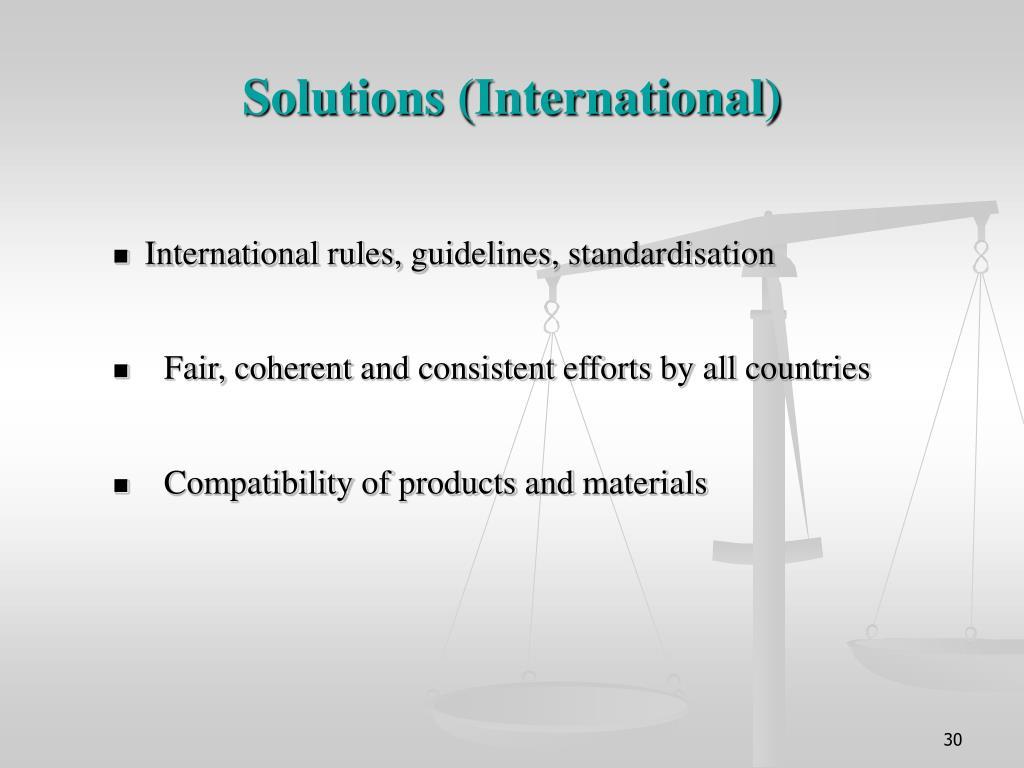 Solutions (International)