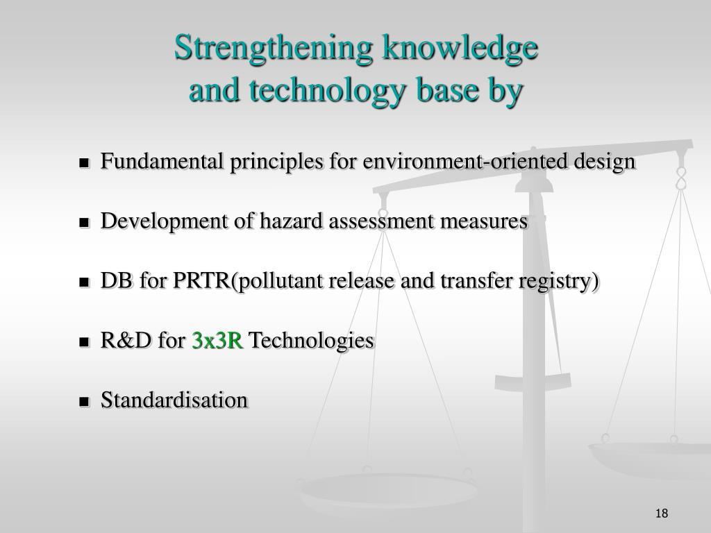 Strengthening knowledge