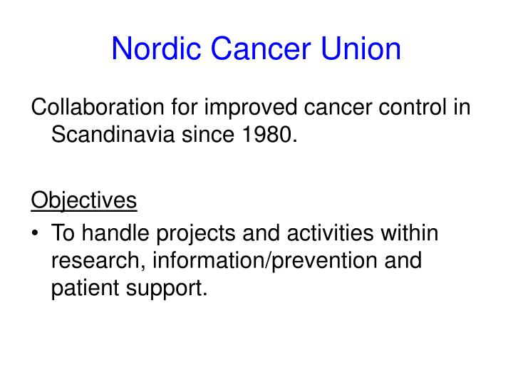 Nordic cancer union