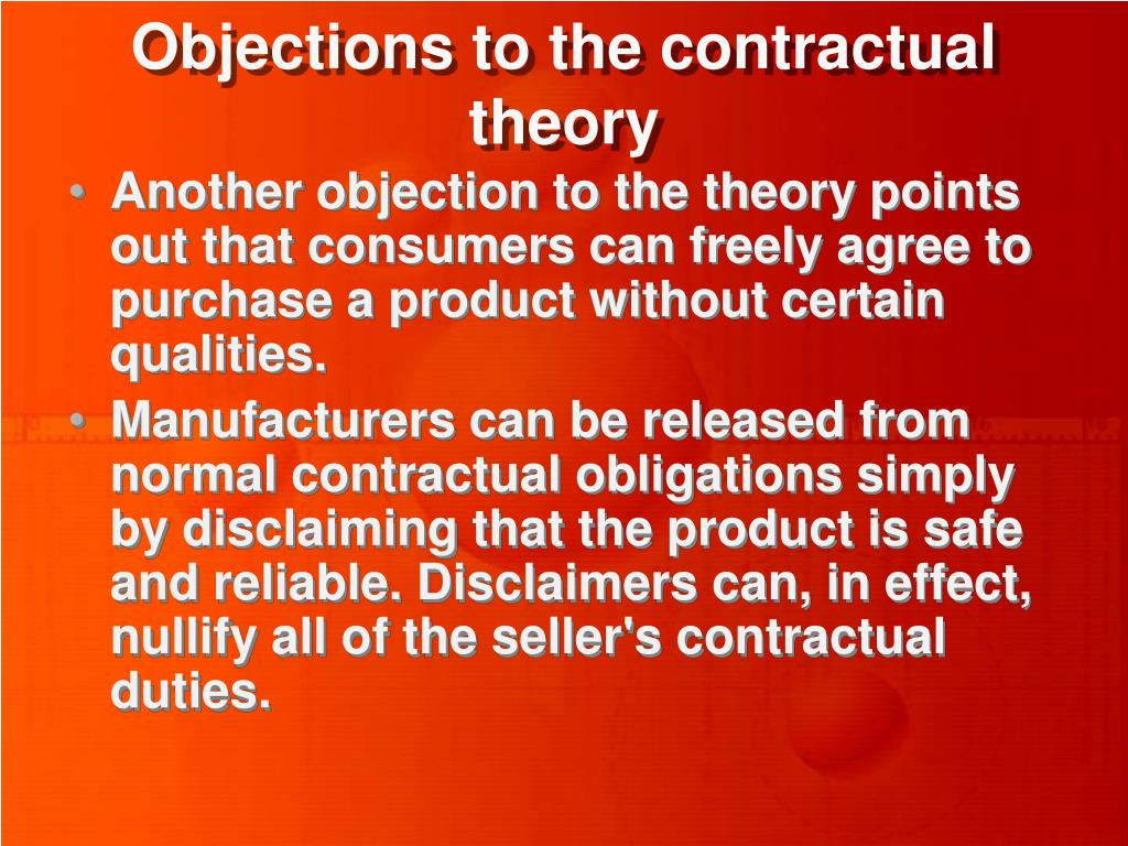 Objections to the contractual theory