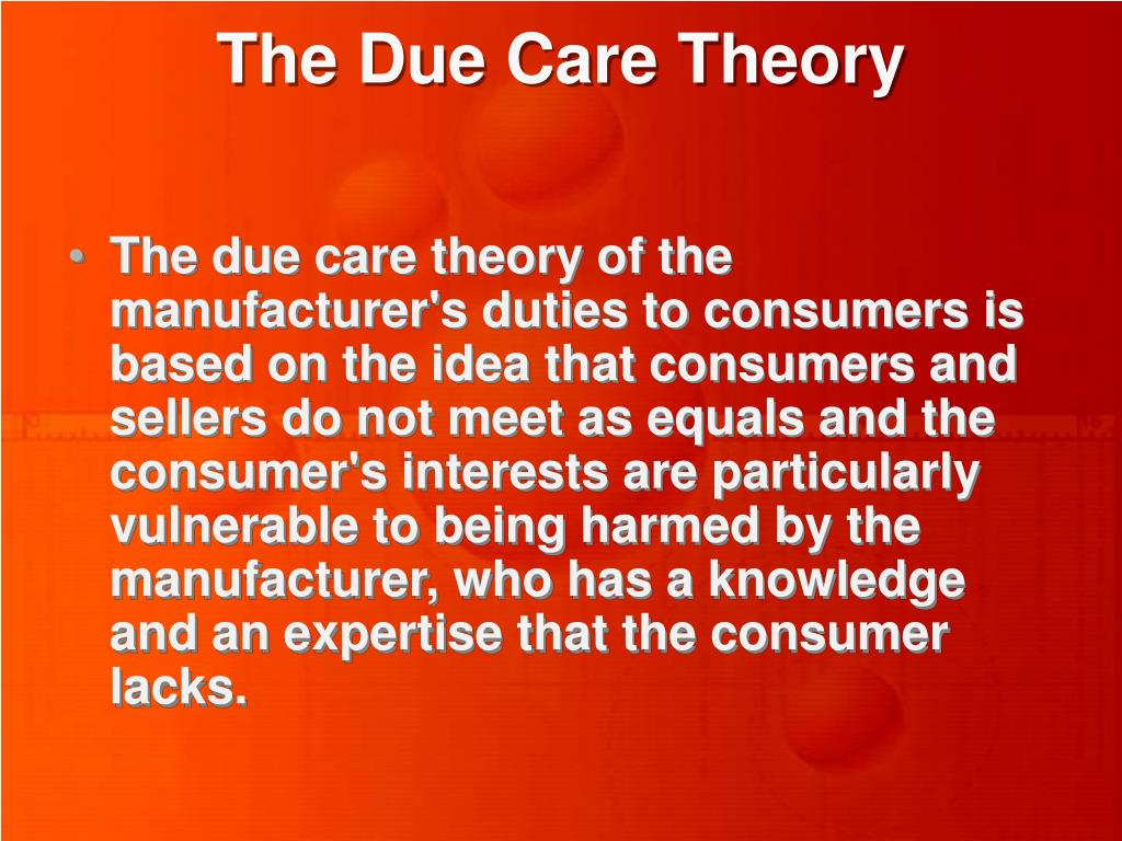 The Due Care Theory