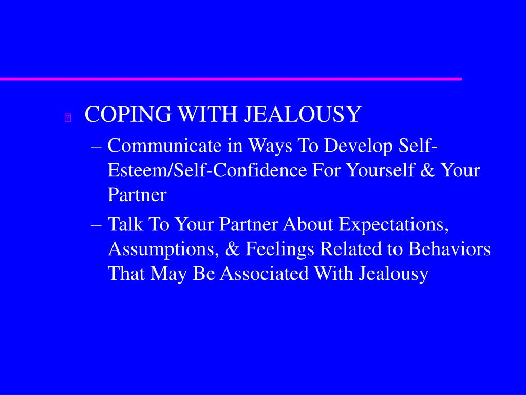 COPING WITH JEALOUSY